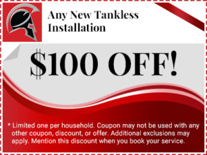 $100 off any new tankless installation coupon
